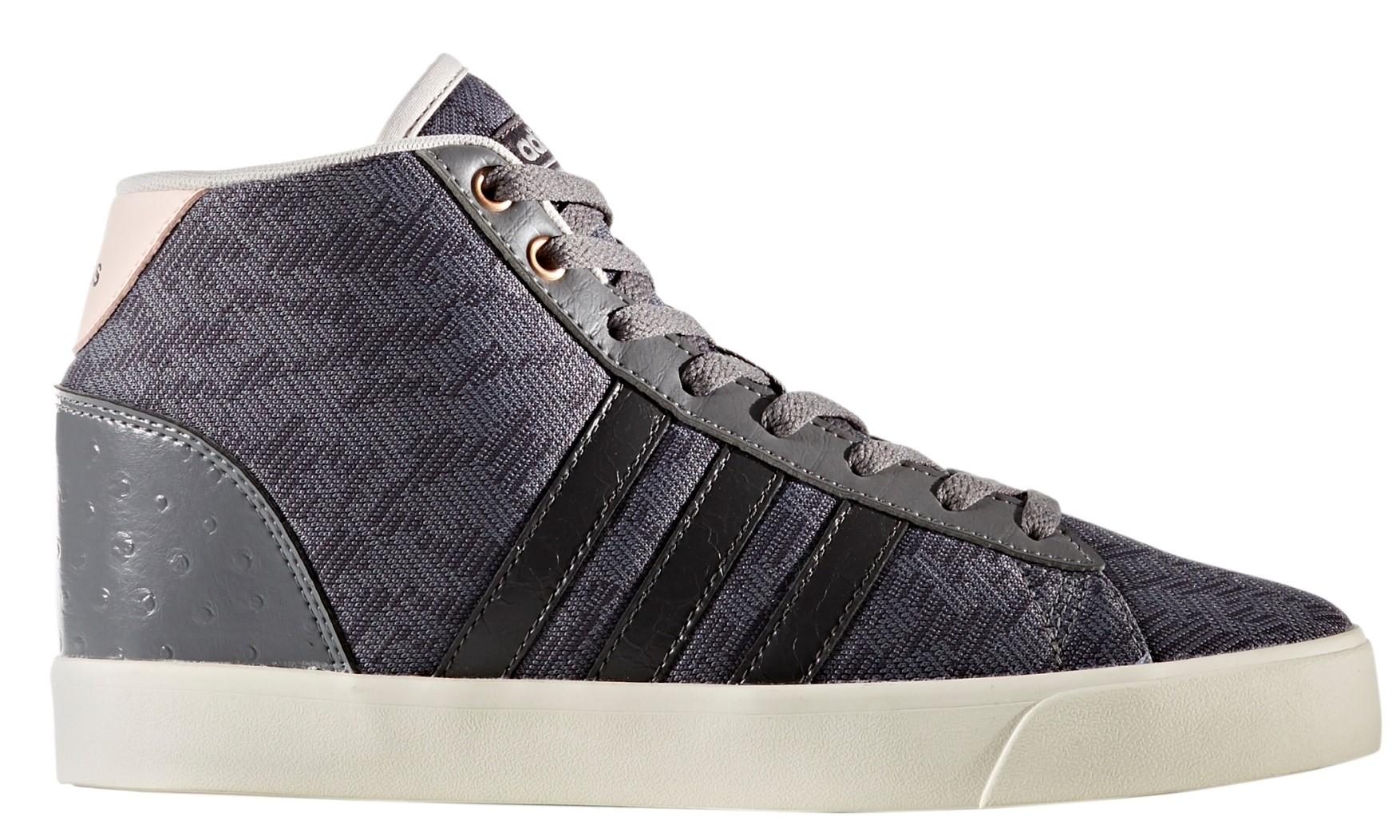 f385823141a Dámské kotníkové boty adidas CF DAILY QT MID W šedé. Sleva