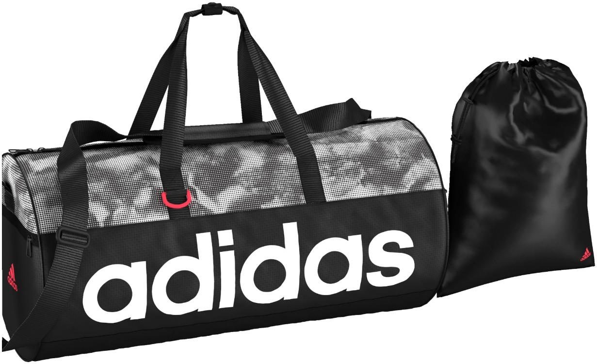 c3ab8f04d6 Sportovní taška adidas WOMEN LINEAR PERFORMANCE TEAMBAG M GRAPHIC černá.  Prostorná taška na trénink