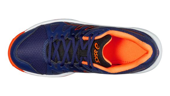 761a0762d92 Dětské sálové boty Asics GEL-UPCOURT GS modré oranžové. Všestranné halové  boty