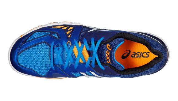 Pánské sálové boty Asics GEL-BLADE 5 bílé   modré  95aeb94dd2