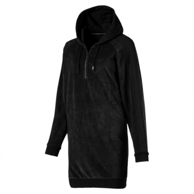 DOWNTOWN HOODED DRESS W