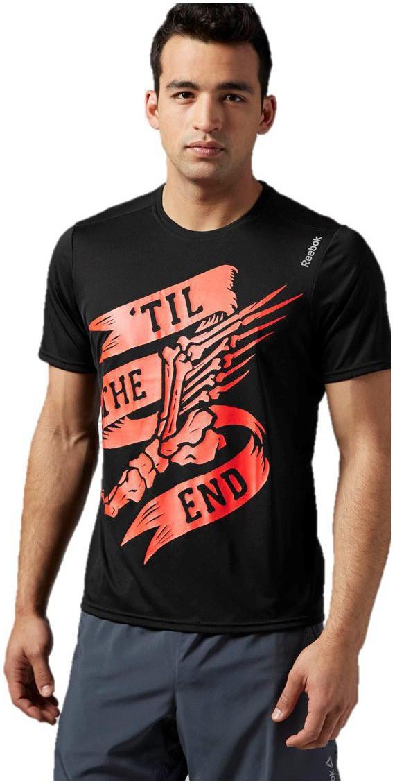 Pánské běžecké tričko Reebok RE SS TEE černé  a028c1efa6